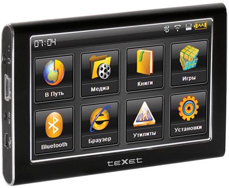 Texet tn-500bt - модель с экраном 43 на процессоре mtk arm11 с частотой 468 мгц